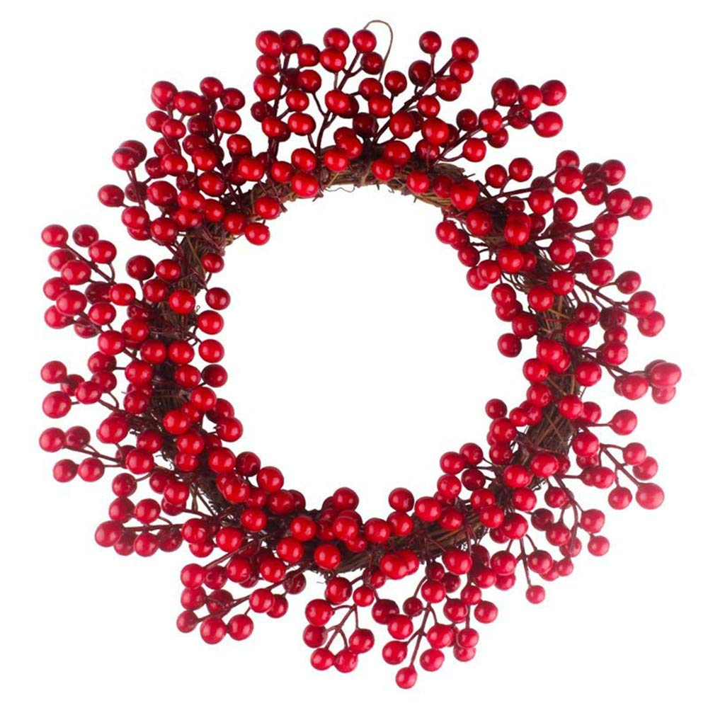 2018!!Hanging Christmas Decoration,Red Berries Wreath Red Wreath (C) by Woaills