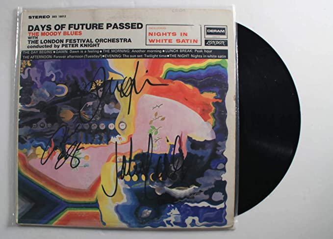 The Moody Blues Band Signed Autographed 'Days of Future Passed