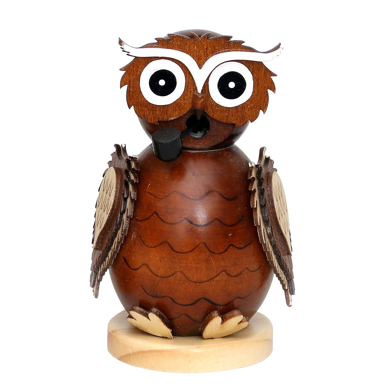'Alla moda moderna legno per affumicatura statuetta gufo ca. 10cm Beige Dekohelden24