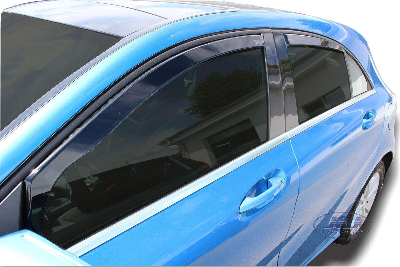 Deflecteurs dair d/éflecteurs de Vent Compatible avec Mercedes Classe A W176 P 2012-2018 4 pi/èces J/&J AUTOMOTIVE