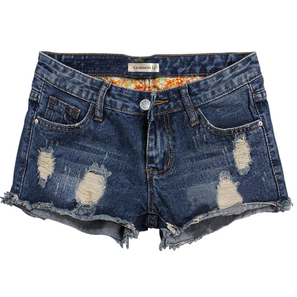 Gordon Q Women's Summer Casual Loose Frayed Cutoff Denim Hot Pants
