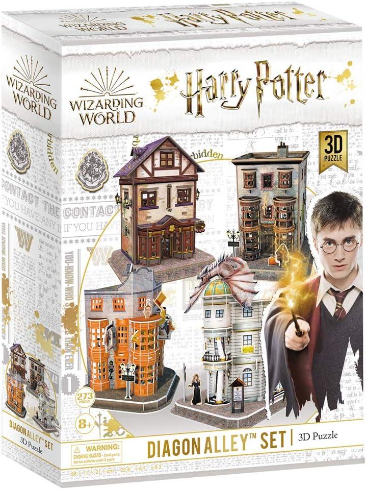 CubicFun Puzzle 3D Harry Potter Callejón Diagón Colección 4 en 1 Set - Quality Quidditch Supplies, Ollivanders Wand Shop, Weasleys Wizard Wheezes y ...