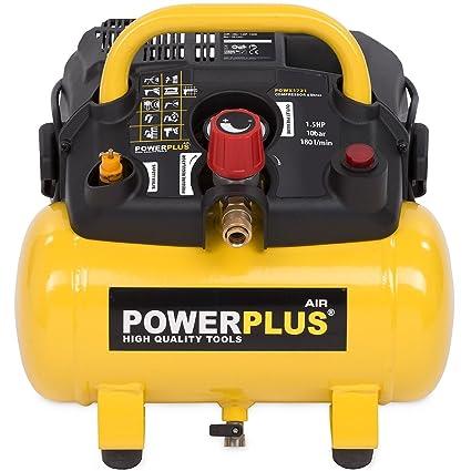 PowerPlus POWX1721 Compresor 1100W 6L Sin Aceite