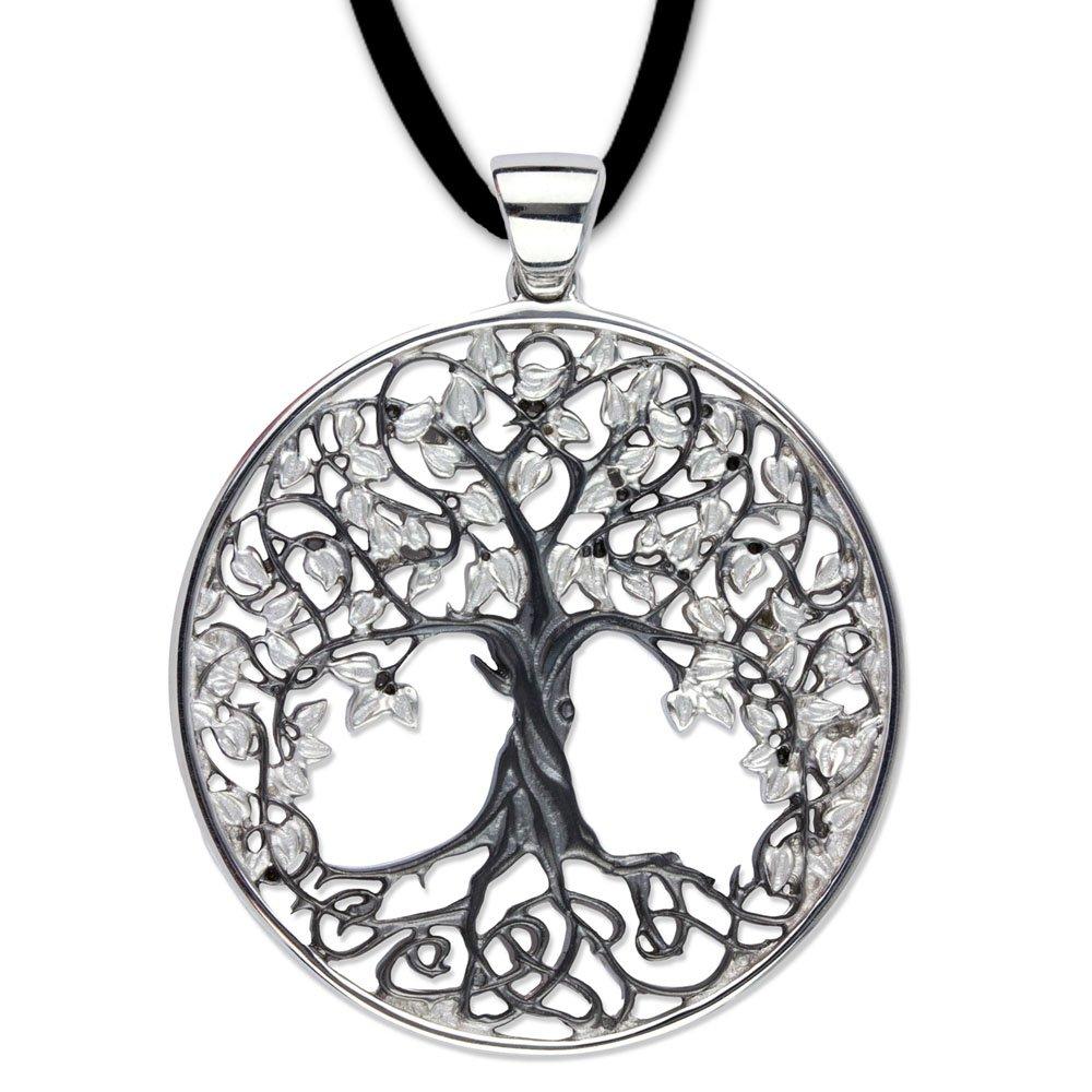 DarkDragon Großer Anhänger Baum des Lebens Keltischer Lebensbaum Schmuck 925er Silber rhodiniert – Heilung – Weltenbaum 2109 66155478782526-2109