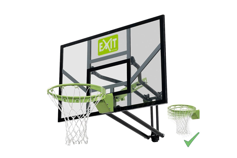 Exit Galaxy 5 stufig höhenverstellbarer Basketballkorb zur Wandmontage mit flexiblem Dunkring