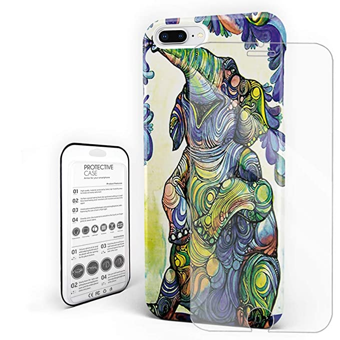 Durable Coque De Telephone Coloree Dessin D Elephant Coquin