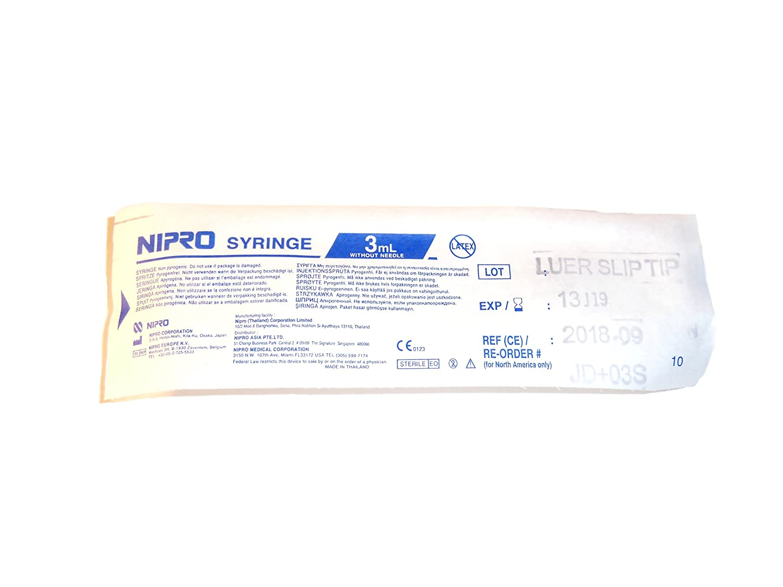 Nipro 3cc Syringe Luer Slip 100 Per Box Health Spuit Bd 3ml Personal Care