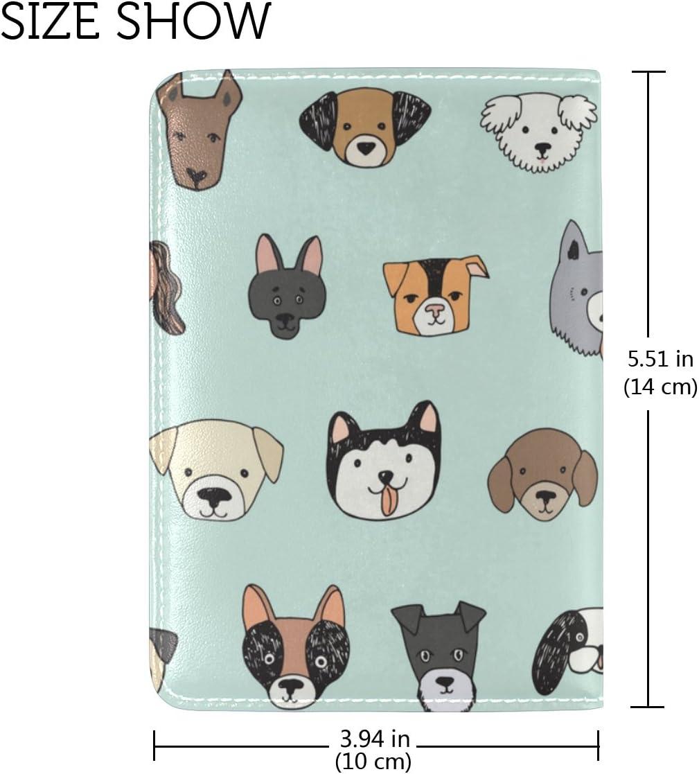 Cooper girl Cute Cartoon Dog Family Passport Cover Holder Case Leather Protector for Men Women Kid