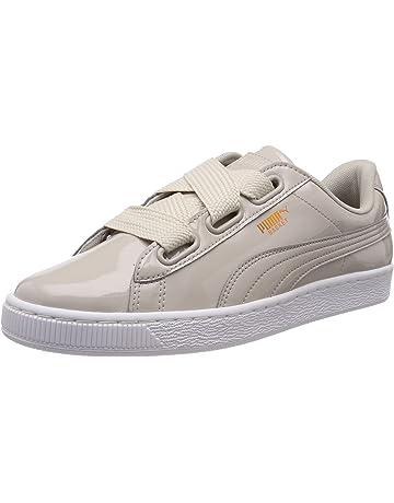 new product 09c23 d12ef Puma Basket Heart Patent WNS Damen Low Boot Sneaker Silber Grau-Silber Grau