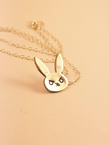Amazon overwatch d bunny pendant necklace in sterling silver overwatch d bunny pendant necklace in sterling silver aloadofball Images