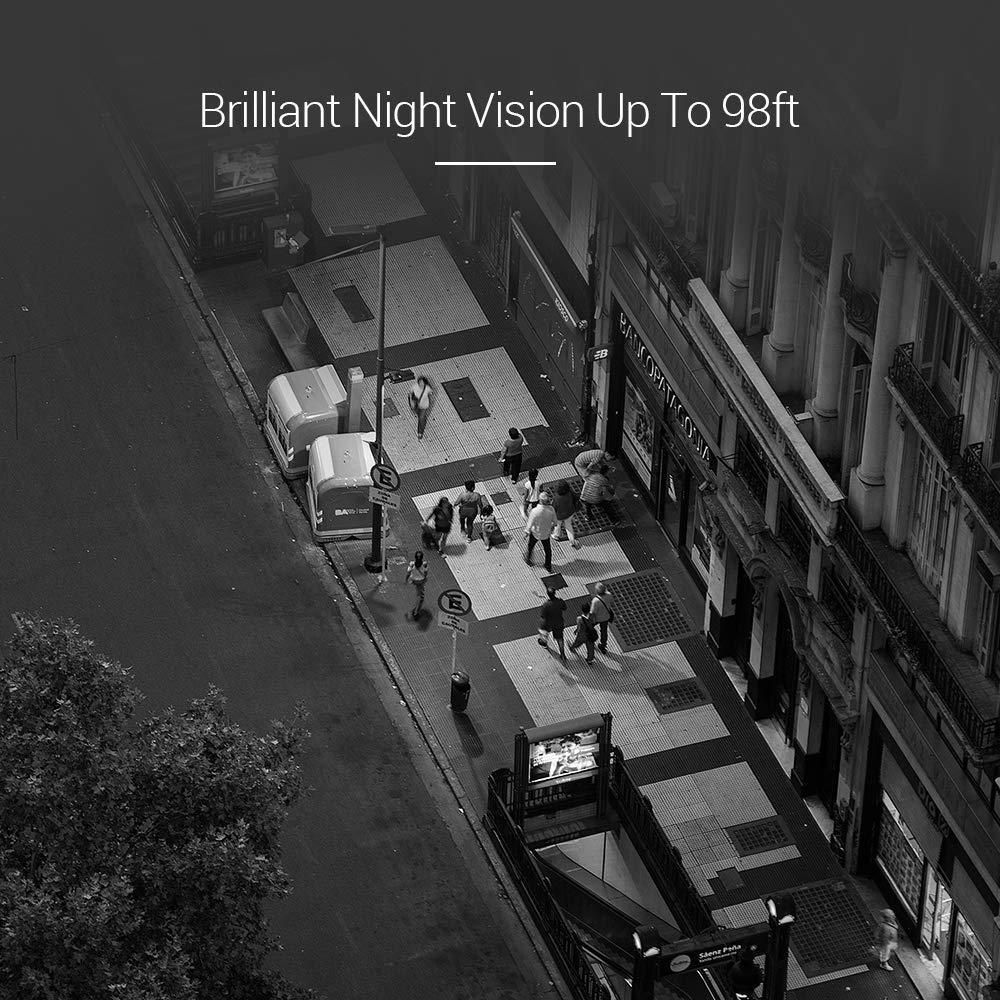 EZVIZ Outdoor Security Camera Surveillance IP66 Weatherproof Night Vision  Strobe Light and Siren Alarm Wi-Fi(2 4G Only)/Ethernet Two-Way Audio Works