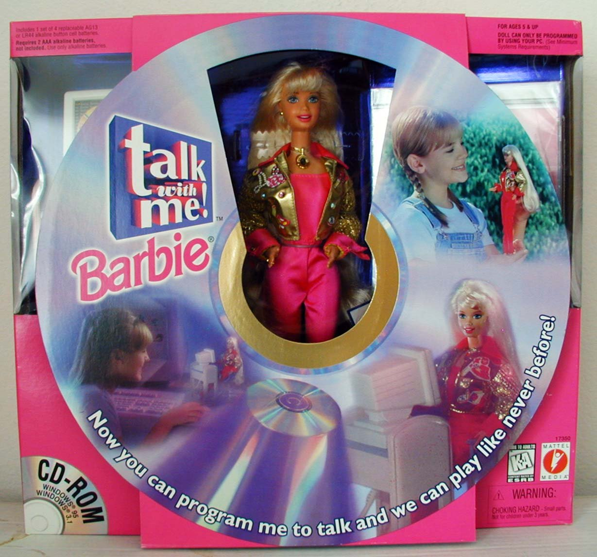 Talk with Me Barbie Doll W Cd ROM & More! (1997) [Toy] Mattel 17350