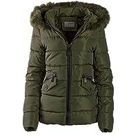 S'West Gesteppte Damen Winter WARME Jacke Mantel Kapuze MIT Fell ABNEHMBAR