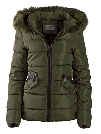 Mantel Fell Gesteppte S'west Kapuze Warme Mit Winter Jacke Damen Xqwv8B