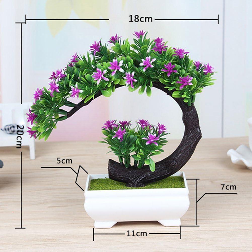 Dssttyle creativo fiore artificiale bonsai simulazione piante finte per casa ufficio decorazione Pink