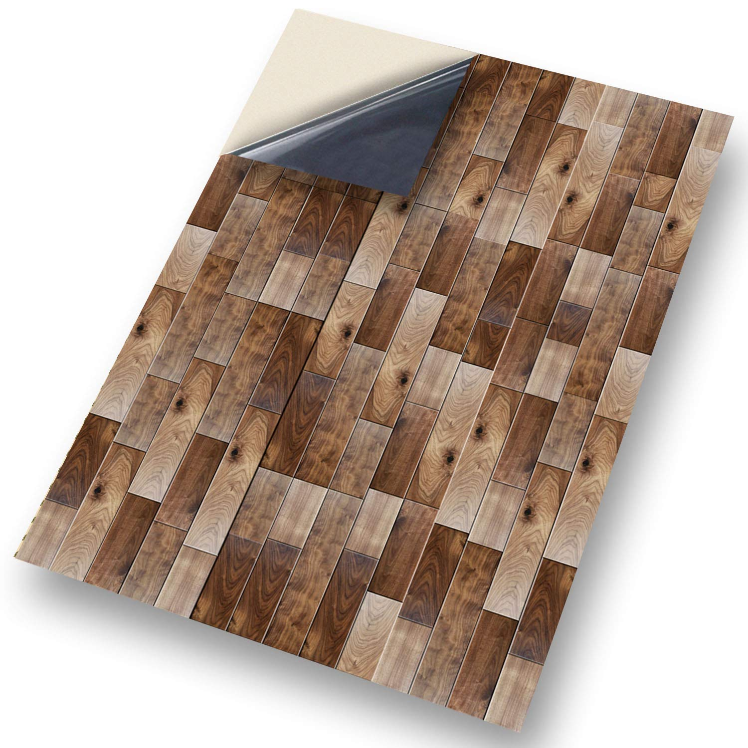 """No 55 Wooden Floor: NEW SELF ADHESIVE Dolls House Wallpaper : 1/12th scale Sheet Size : 12. 1/12"""" wide x 8.3/4"""" high (318mm x 225mm) Superior """"Non see through"""" Semi Matt Vinyl Coverings that can be applied instantly over existing pa"""