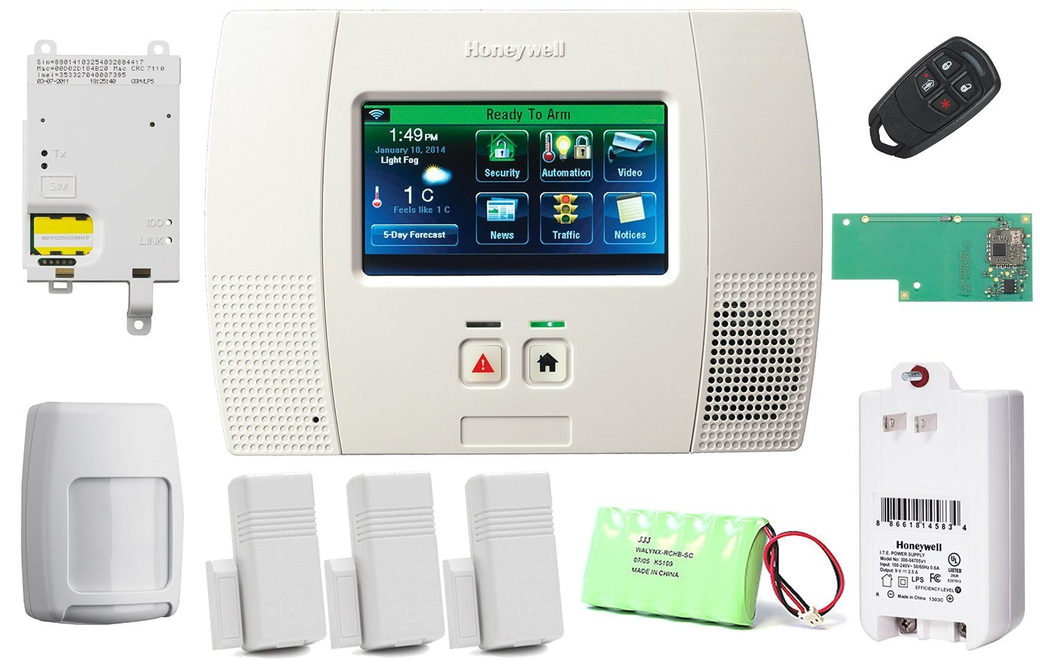 Amazon honeywell lynx touch l5200 security alarm kit with amazon honeywell lynx touch l5200 security alarm kit with cellular communicator and zwave module camera photo solutioingenieria Image collections