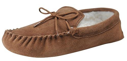 Nordvek - # 431-100 - Zapatillas de casa Mujer - Tipo mocasín - Piel ovina auténtica - Suela de Ante Suave: Amazon.es: Zapatos y complementos