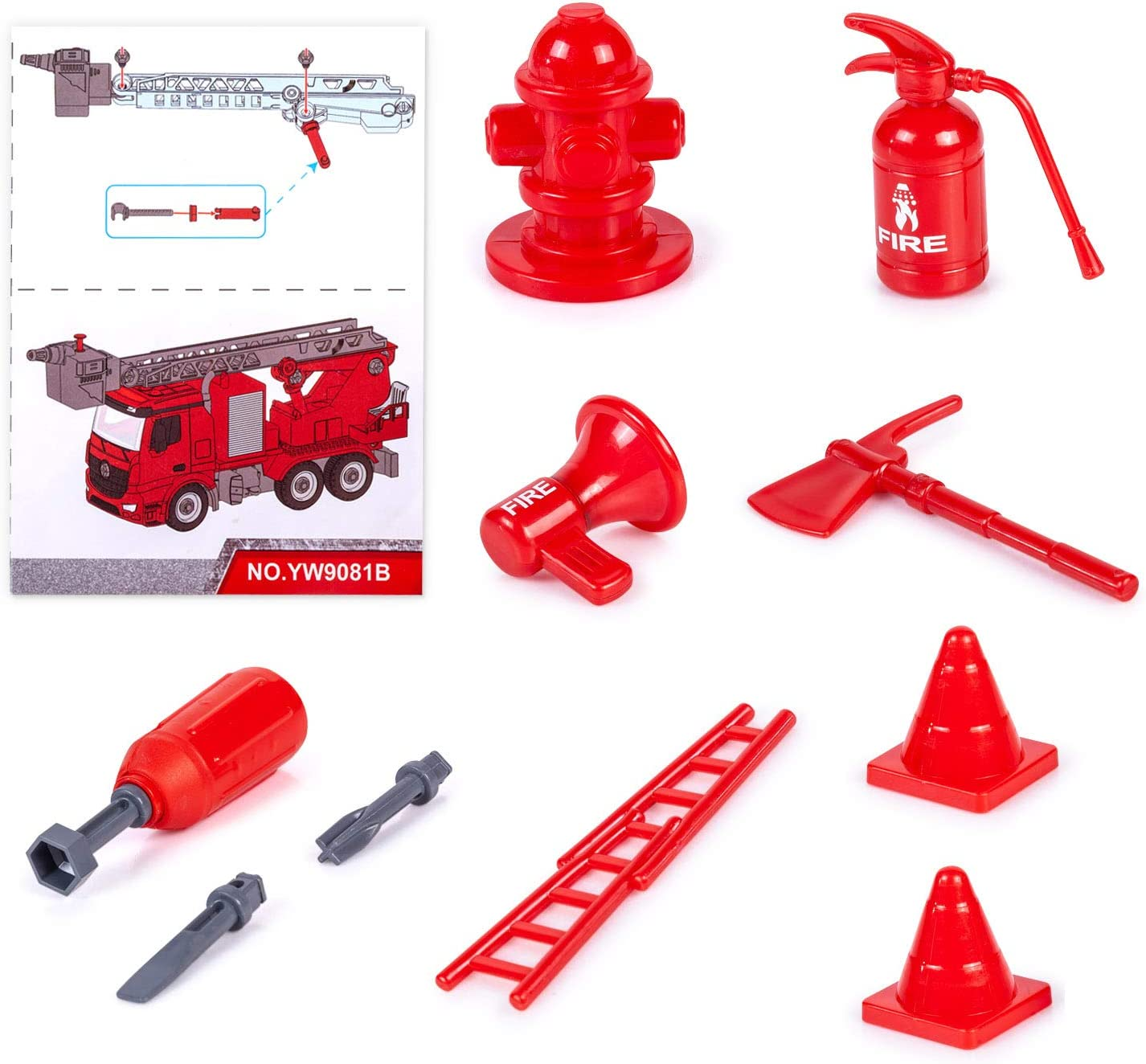 Years Old Boy and Girl iLifeTech Fire Truck with Lights and Sound 3 in 1 Take Apart Car Toys for 3 Fire Truck