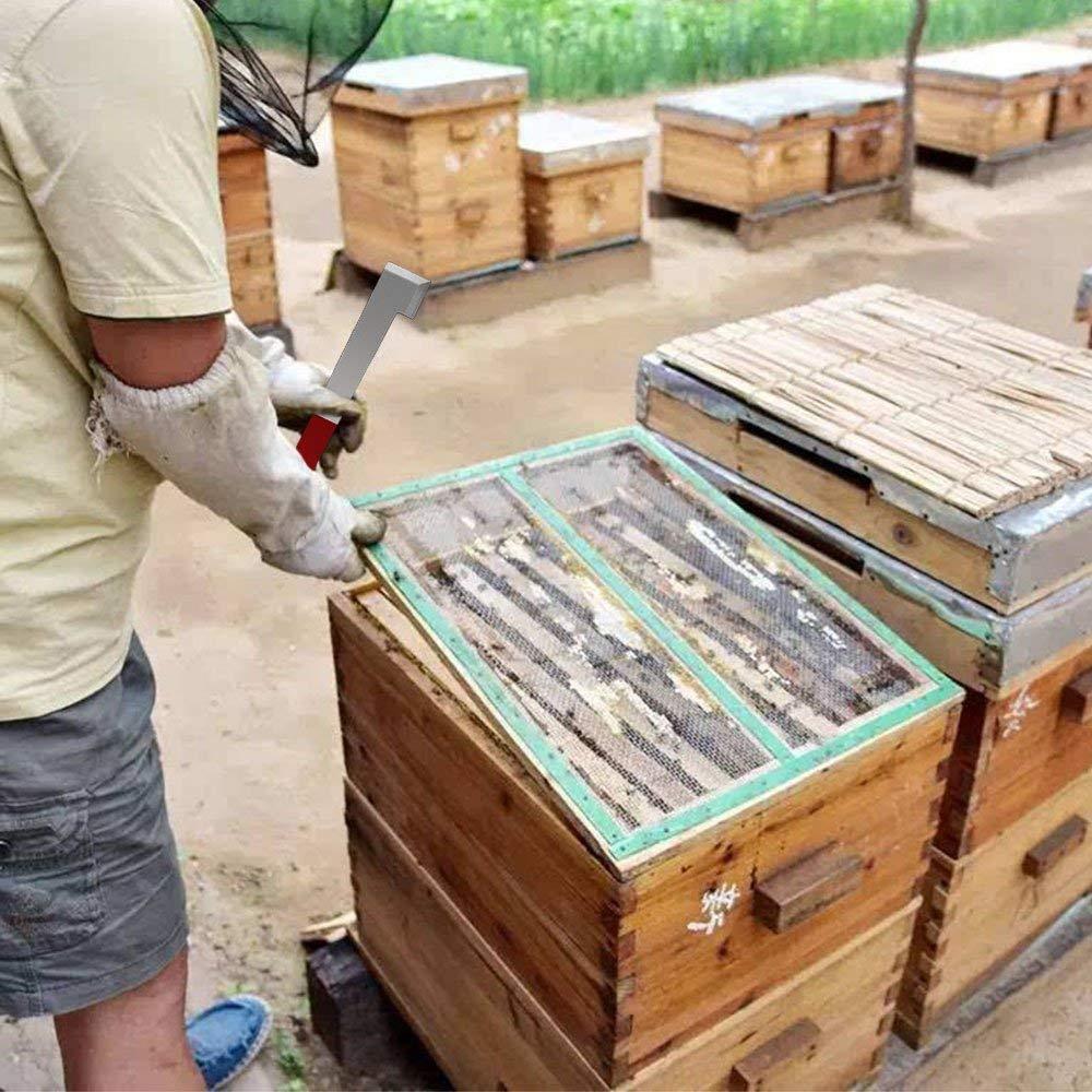 ASEOK Bee Hive Tool J-Hook Apiculture Fournitures 2 Pack Acier Inoxydable Abeille Racloir Cadre /Équipement De Levage pour Apiculteur
