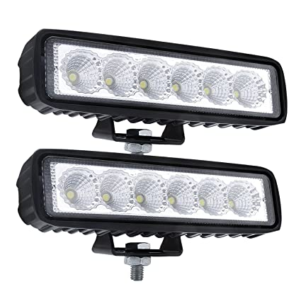 Amazon flood led light bar off road fog lights led driving flood led light bar off road fog lights led driving lights for vehicle truck suv atv aloadofball Gallery
