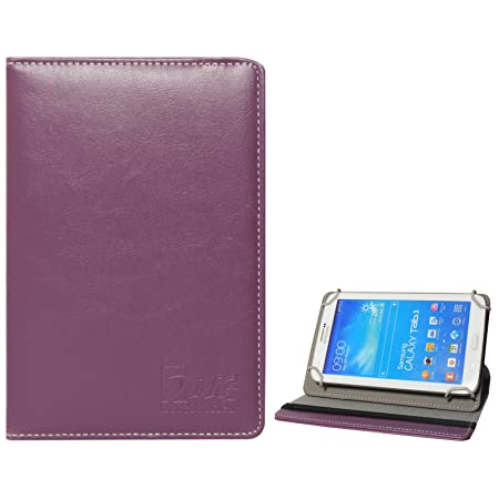 DMG Universal 360 Swivel Stand Book Cover Case for Champion Wtab 705 7 inch Tablet  Purple  Tablet Accessories