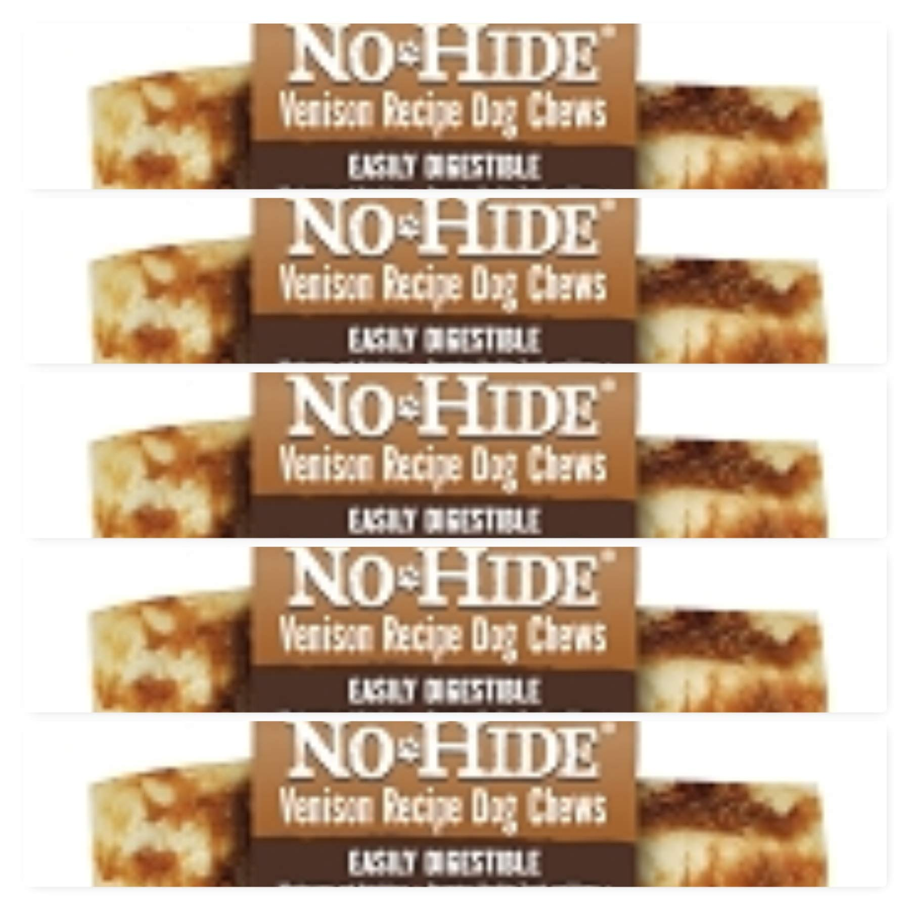 Earth Animal No Hide Raw Hide Dog Chews, Dog Treats. (Venison) 5 Pack 4 Inch ea. The Safe Alternative to Raw Hide!!! by Earth Animal (Image #1)