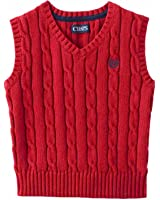 Chaps Toddler & Little Boys Red V-Neck Cable Knit Sweater Vest