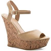 Olivia K OILIVIA K Girls Sparkly Rhinestone Kitten Heel Platform Dress Sandals (Toddler/Little Girl)