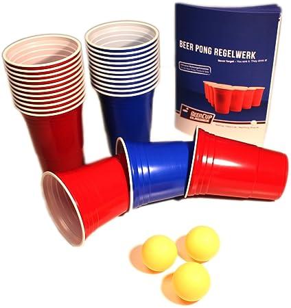 Vasos De Plastico Beercup Para Fiestas Y Beer Pong Color Rojo Y