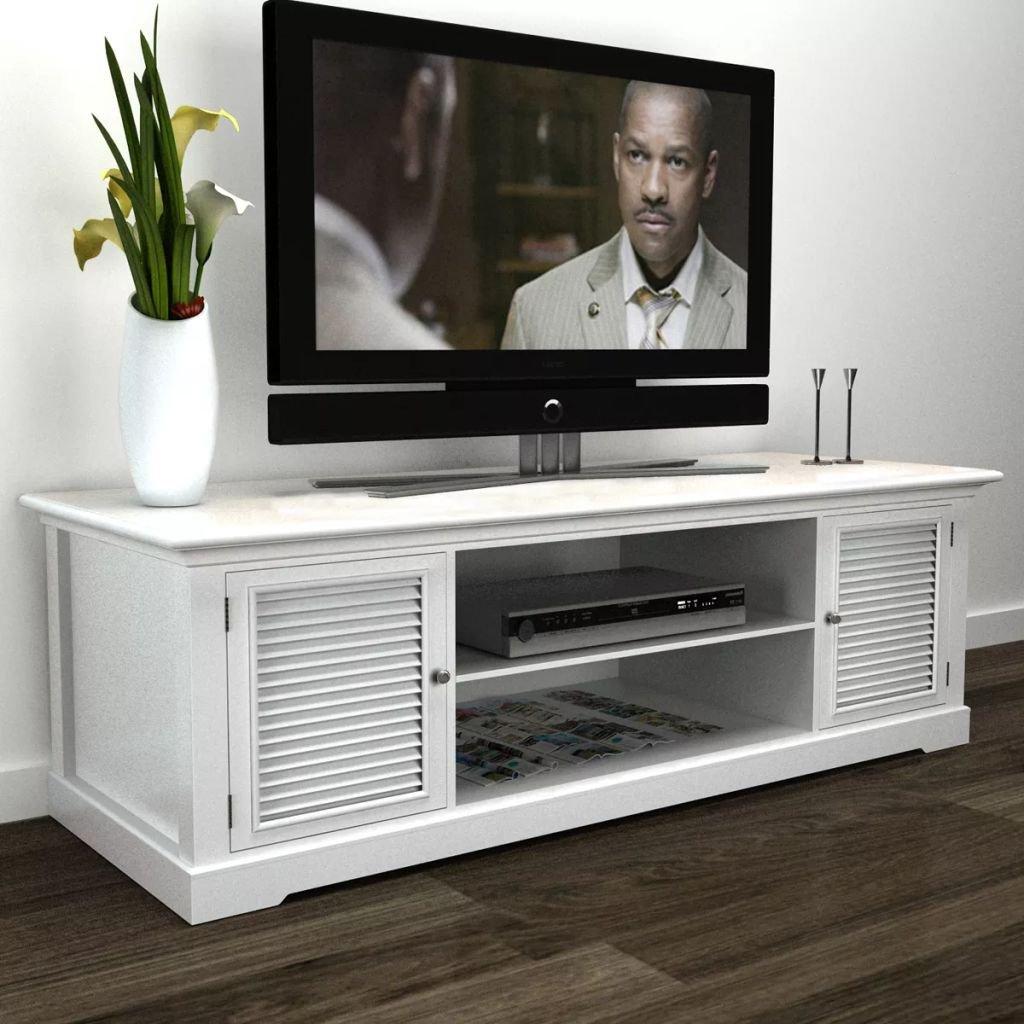 WEILANDEAL TV-Bank Holz Holz MDF Holz Kiefernholz (Rahmen) + Eisen ...