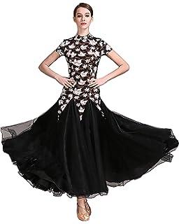 4f60aaebd SIQIAN Womens Lace International Standard Ballroom Dance Dress Competition  Custumes Modern Dance Dress