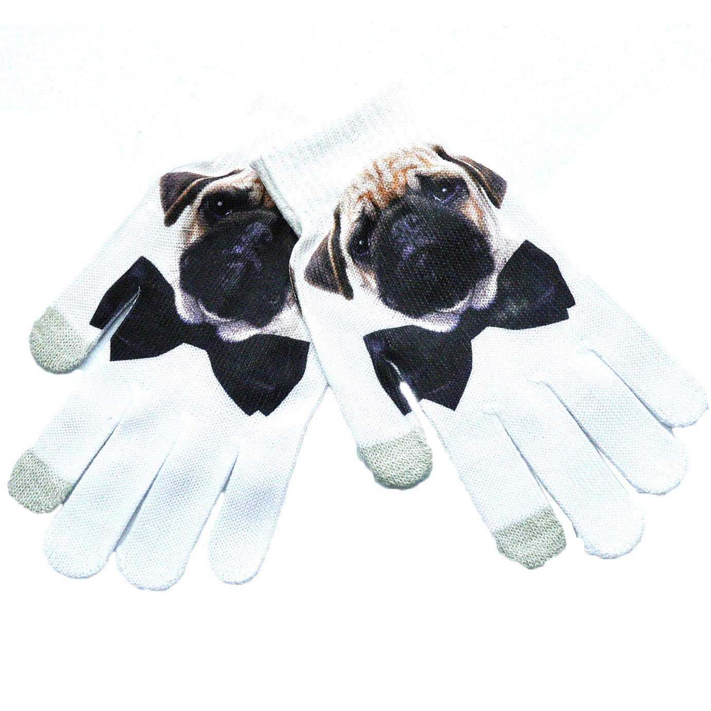 Adluts Winter Touch Screen Gloves 3D Realistic Effect Watermark Landscape Animal Full Finger Gloves Mittens