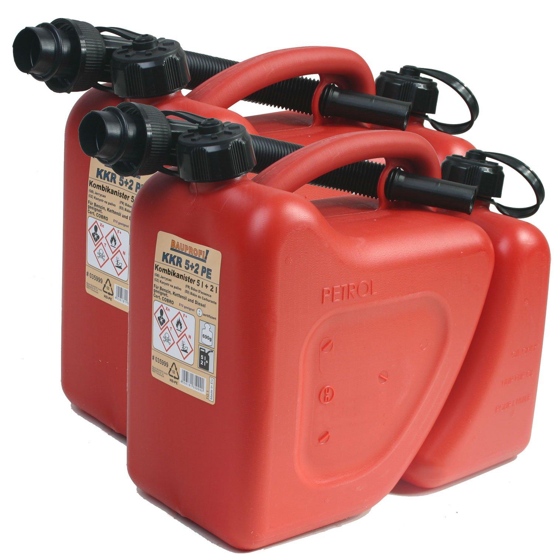 2er Set 2 Liter rot Doppelkanister 2x Kombikanister KKR 5+2 PE 5 Liter