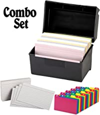 Index card files business card files amazon office plastic index card flip top file box holds 300 3 x 5 cards matte black colourmoves