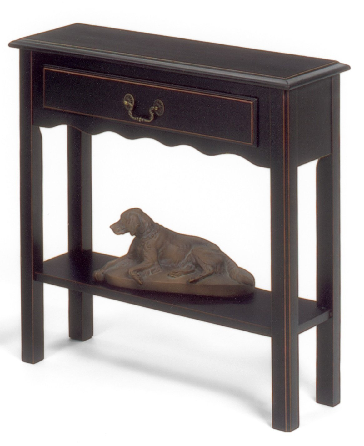 Heartwood Crossing Console Table, 28''W x 10''D x 28''H, Black by Heartwood Crossing