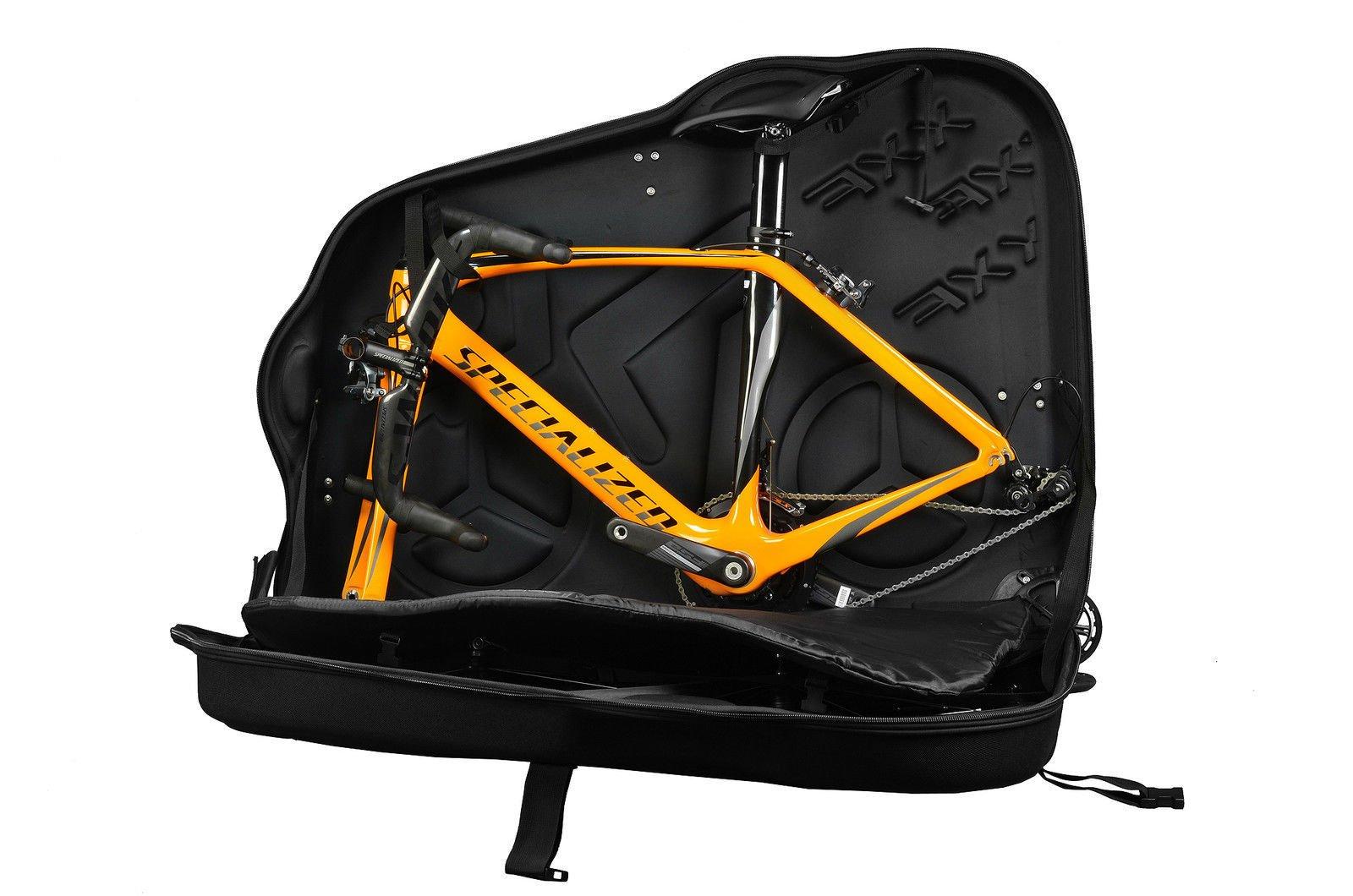 Hepburn's EVA Bike Travel Case for 26''/700C/27.5'' Mountain Road Bicycle Travel Transport Equipment Black