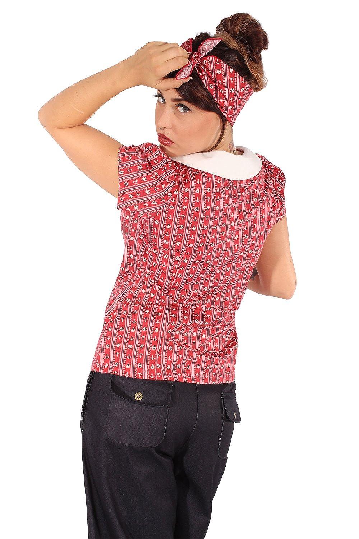 SugarShock Damen Rockabilly Sailor Bluse 139831181: Amazon.de: Bekleidung