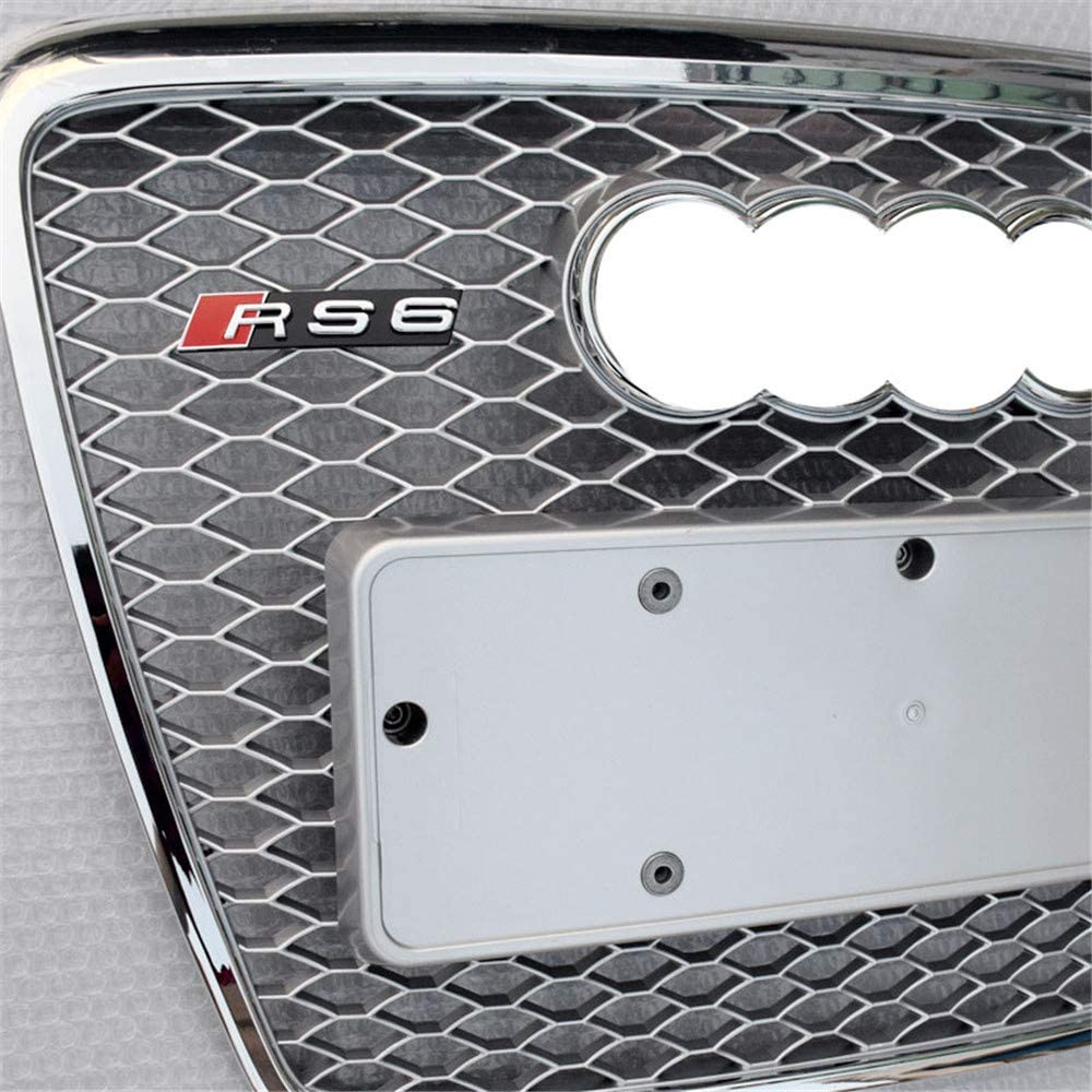 S6 2008-2011 1-Pack Xinshuo ABS Honeycomb Type K/ühlergrill f/ür RS6 Style A6
