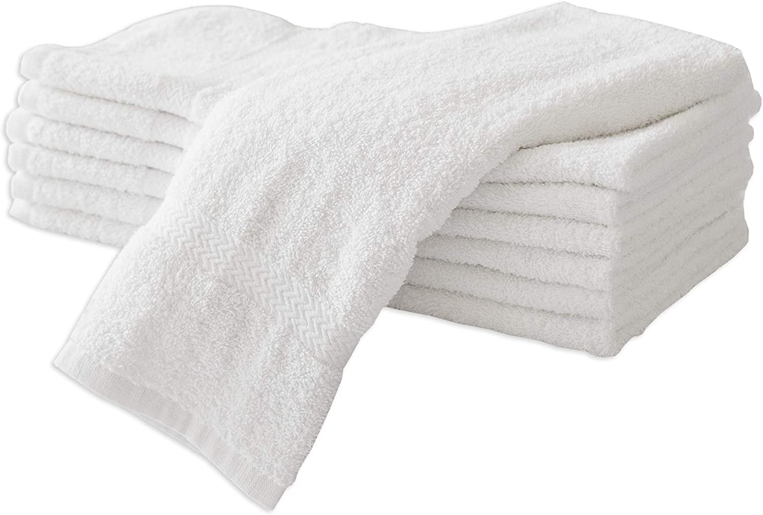 6 PACK HOTEL HAND TOWELS BLENDED EGYPTIAN COTTON 16x27