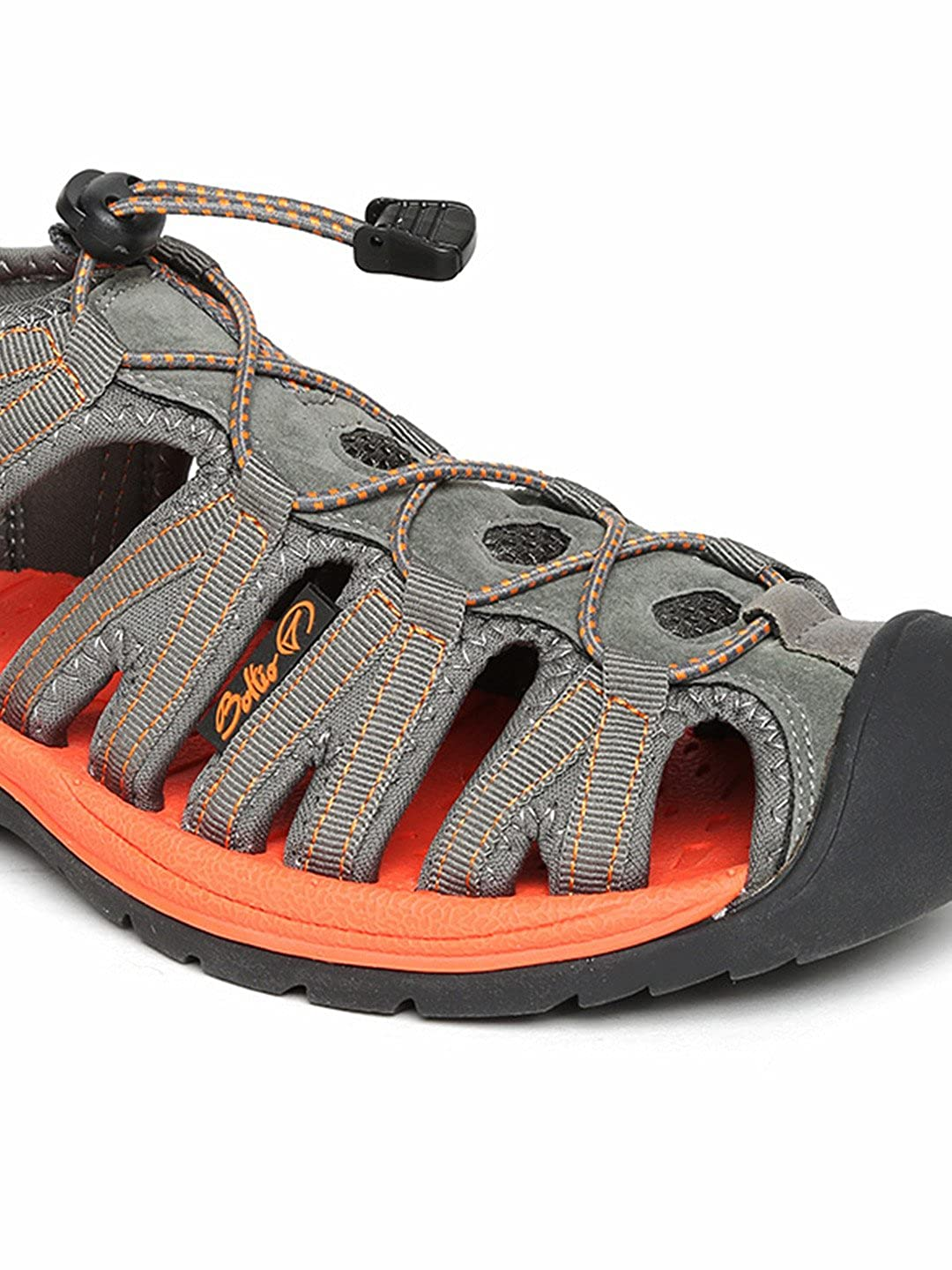 76f19767192274 Boltio Men Grey   Orange Sports Sandals (9.5UK)  Buy Online at Low Prices  in India - Amazon.in