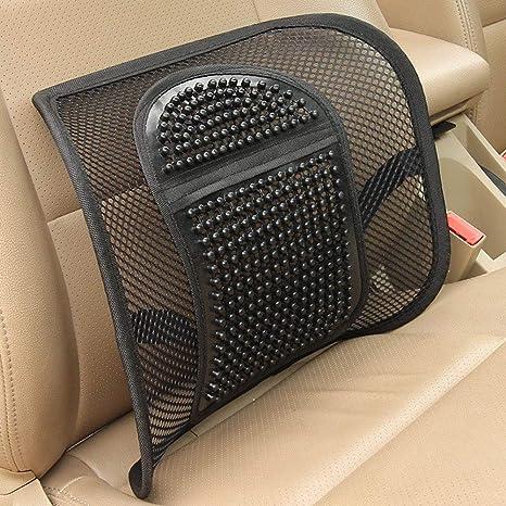 YUSHHO56T - Cojín lumbar para asiento de coche, color negro ...