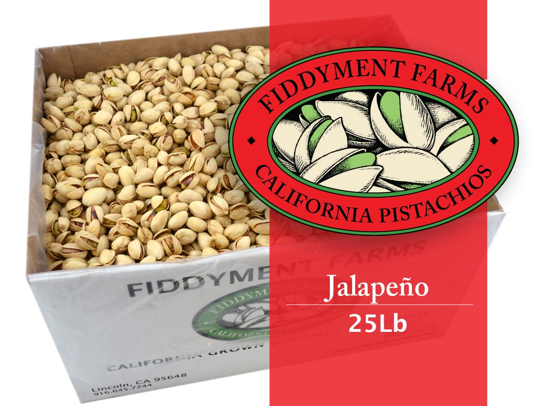 Fiddyment Farms 25 Lbs Jalapeno In-shell Pistachios
