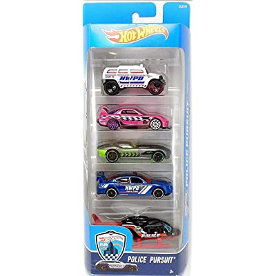 Hot Wheels, 2016 Police Pursuit 5-Pack: Toys & Games