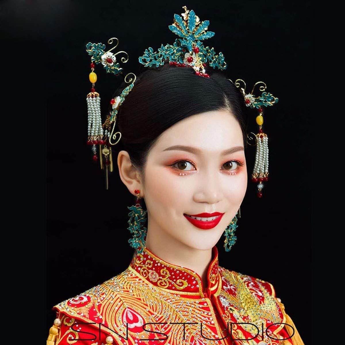 Girls Crown, Beautiful headdress/Wedding Dress Headgear Chinese Ancient Costume Wedding Accessories Wedding Toast Phoenix Crown Ornaments. by Zehaer (Image #4)