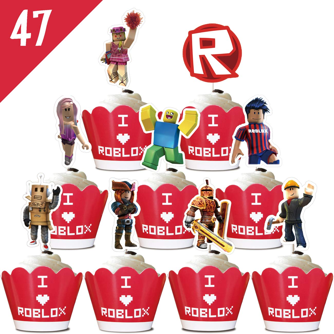 Kirby Feet Roblox Roblox Cupcake Cake Toppers Set Of 12 Made To Order Fast Shipping