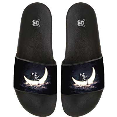 COWDIY Cool Astronaut Moon Beach Sandal Slippers Bath Slippers Summer Sandals for Bathroom Living Room Swimming Pool Indoor and Outdoor Use