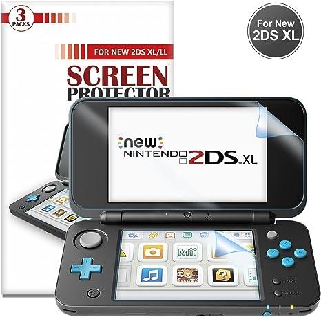 Protector de Pantalla para Nintendo New 2DS XL [3 Paquetes]- Younik Protector de pantalla HD de 0.125mm/4H ultra transparente para New Nintendo 2DS XL 2017: Amazon.es: Electrónica