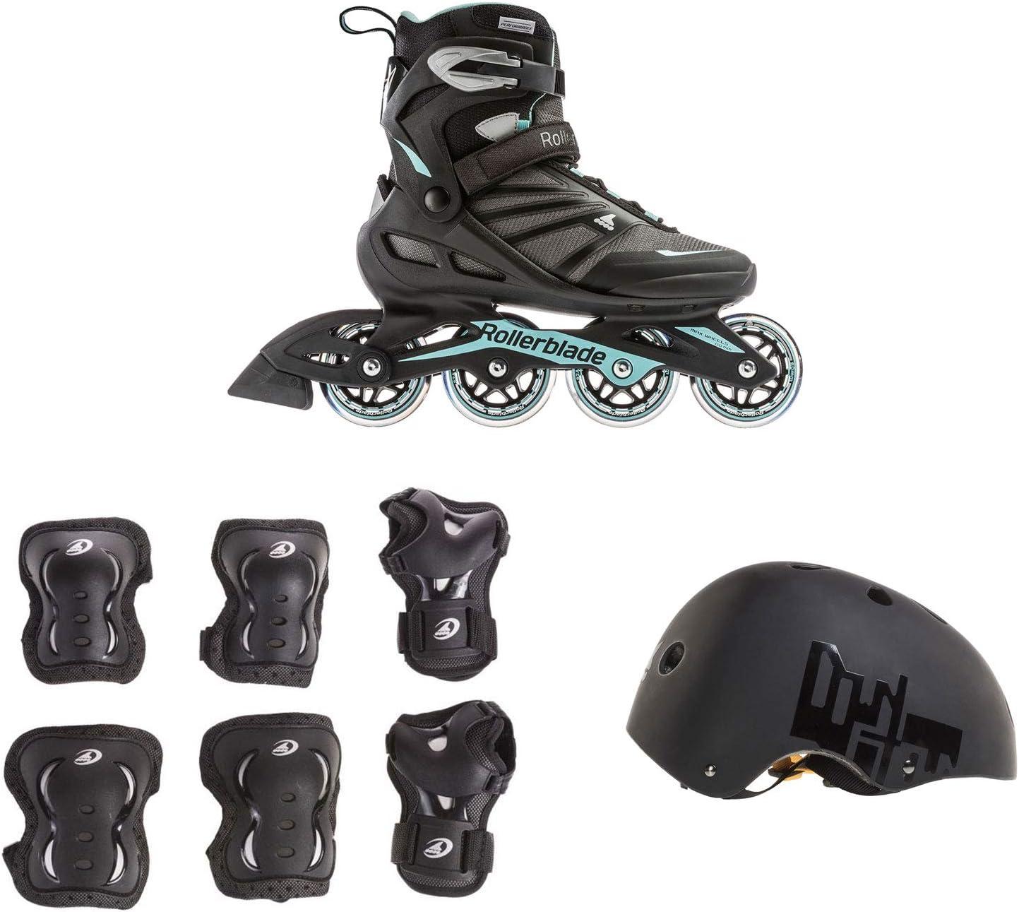 Rollerblade USA レディース サイズ9 ローラーブレード + 保護ギア + スケートヘルメット