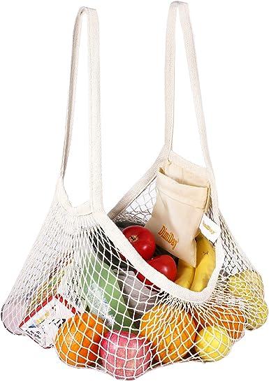 DimiDay - Bolsa de tela de algodón reutilizable para compras de ...